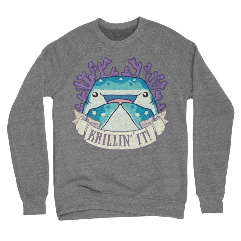 Krillin' It! (Whale Shark) Women's Sponge Fleece Sweatshirt by Byte Size Treasure's Shop