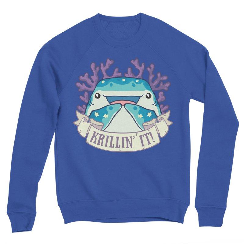 Krillin' It! (Whale Shark) Women's Sponge Fleece Sweatshirt by Byte Size Treasure's Shop