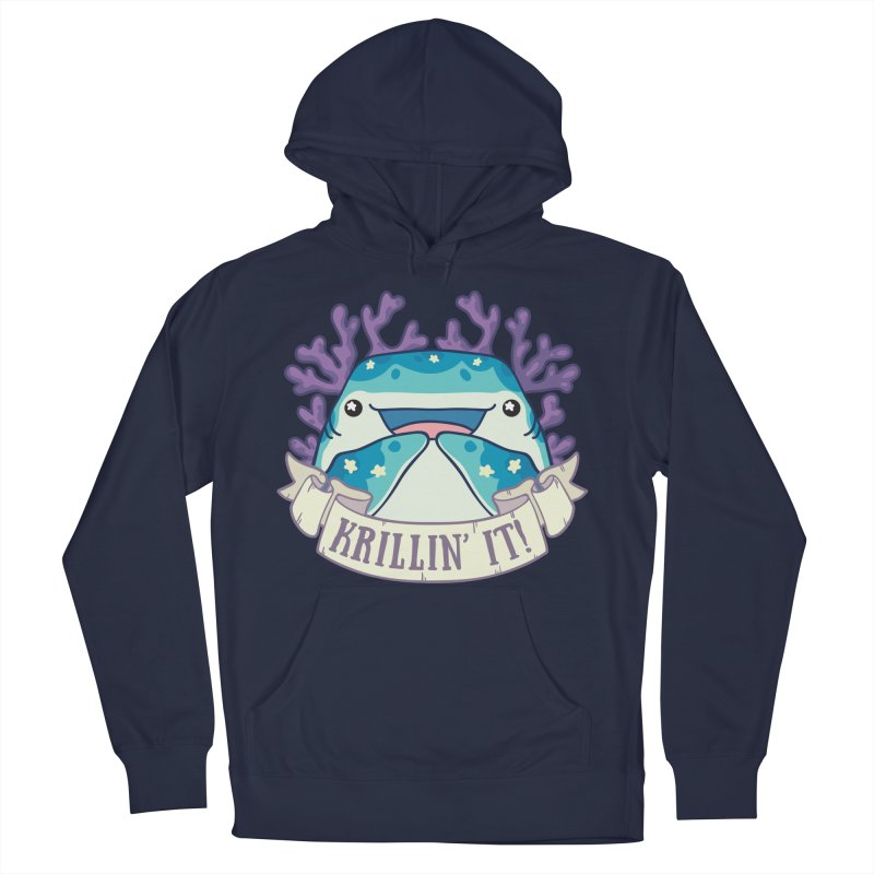 Krillin' It! (Whale Shark) Women's French Terry Pullover Hoody by Byte Size Treasure's Shop