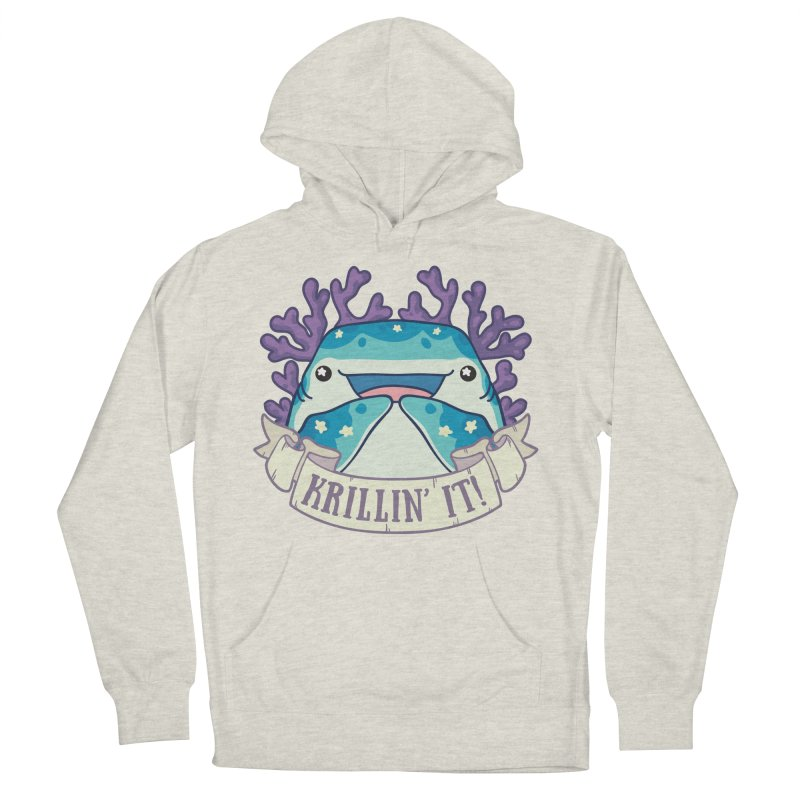 Krillin' It! (Whale Shark) Men's French Terry Pullover Hoody by Byte Size Treasure's Shop