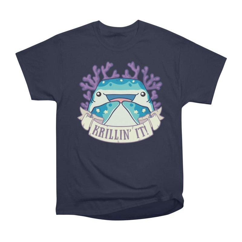 Krillin' It! (Whale Shark) Women's Heavyweight Unisex T-Shirt by Byte Size Treasure's Shop