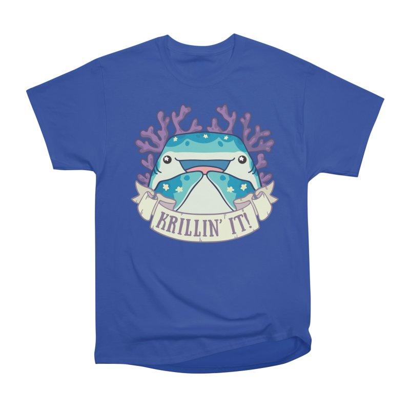 Krillin' It! (Whale Shark) Men's Heavyweight T-Shirt by Byte Size Treasure's Shop