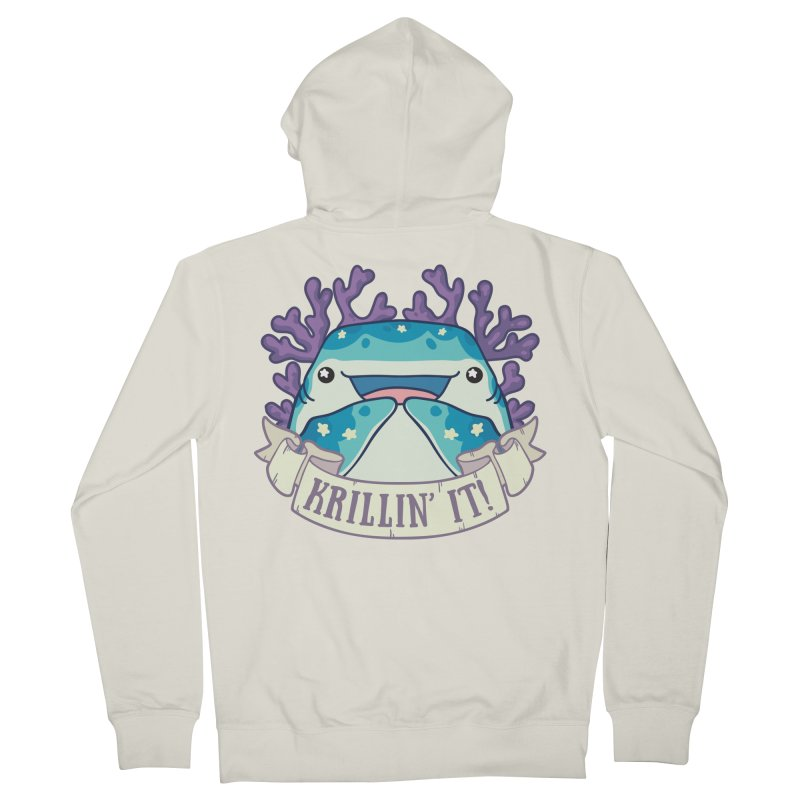 Krillin' It! (Whale Shark) Women's French Terry Zip-Up Hoody by Byte Size Treasure's Shop