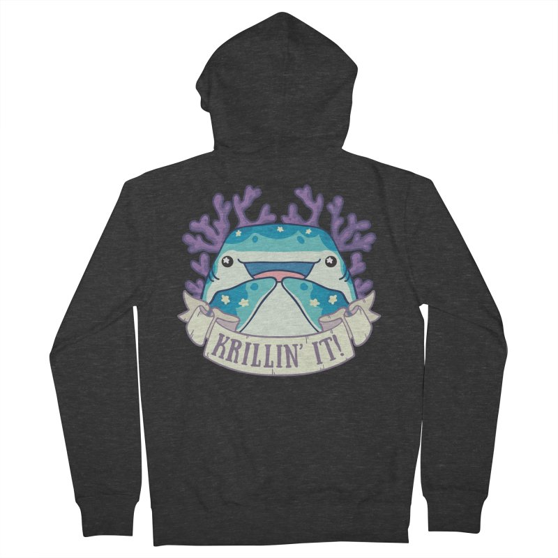 Krillin' It! (Whale Shark) Men's French Terry Zip-Up Hoody by Byte Size Treasure's Shop
