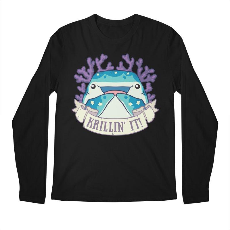 Krillin' It! (Whale Shark) Men's Regular Longsleeve T-Shirt by Byte Size Treasure's Shop