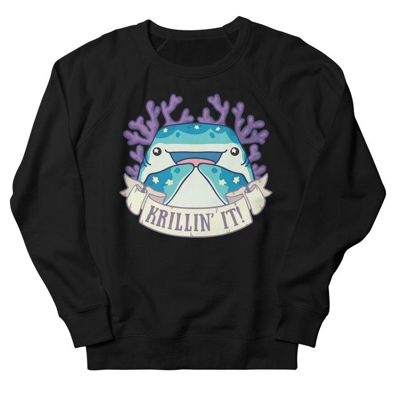 Krillin' It! (Whale Shark) Men's French Terry Sweatshirt by Byte Size Treasure's Shop