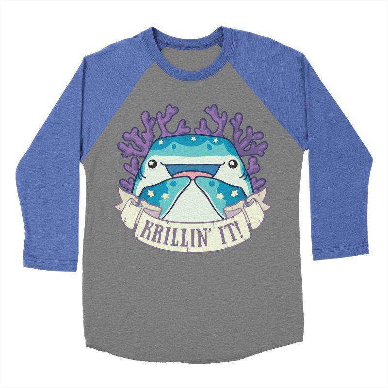 Krillin' It! (Whale Shark) Women's Baseball Triblend Longsleeve T-Shirt by Byte Size Treasure's Shop