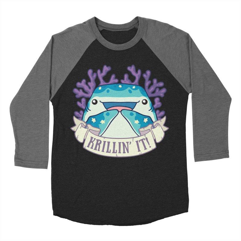Krillin' It! (Whale Shark) Men's Baseball Triblend Longsleeve T-Shirt by Byte Size Treasure's Shop