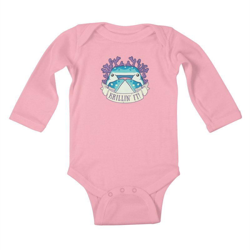 Krillin' It! (Whale Shark) Kids Baby Longsleeve Bodysuit by Byte Size Treasure's Shop