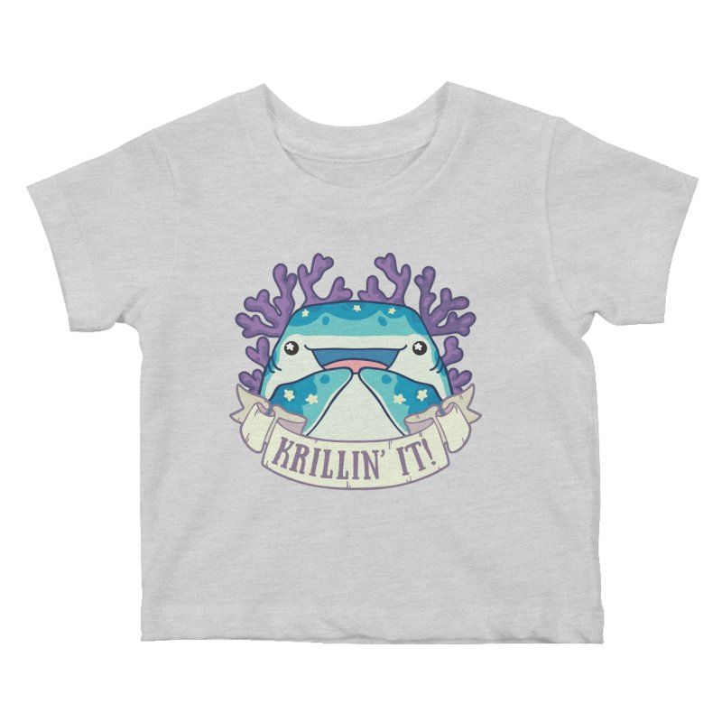 Krillin' It! (Whale Shark) Kids Baby T-Shirt by Byte Size Treasure's Shop