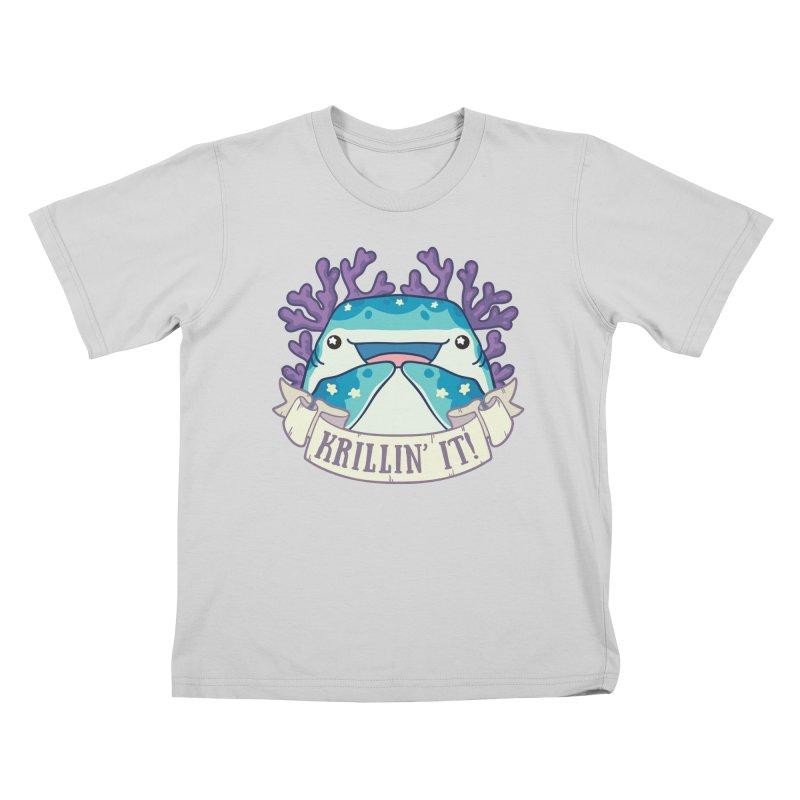 Krillin' It! (Whale Shark) Kids T-Shirt by Byte Size Treasure's Shop