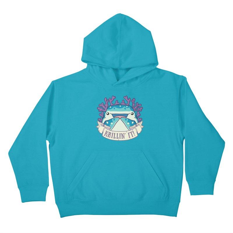 Krillin' It! (Whale Shark) Kids Pullover Hoody by Byte Size Treasure's Shop