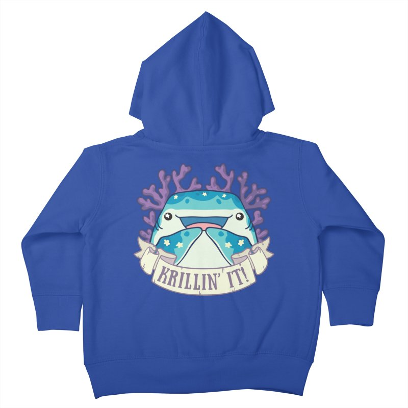 Krillin' It! (Whale Shark) Kids Toddler Zip-Up Hoody by Byte Size Treasure's Shop
