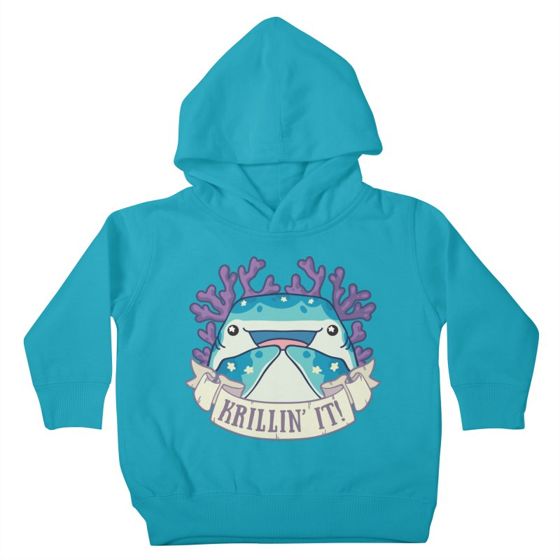 Krillin' It! (Whale Shark) Kids Toddler Pullover Hoody by Byte Size Treasure's Shop