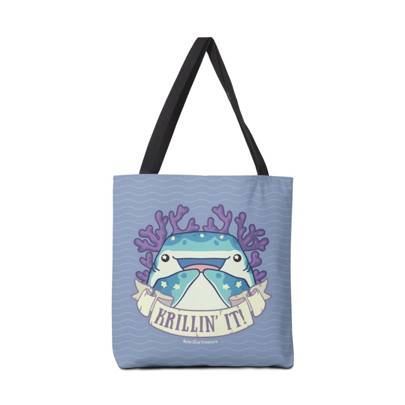 Krillin' It! (Whale Shark) in Tote Bag by Byte Size Treasure's Shop