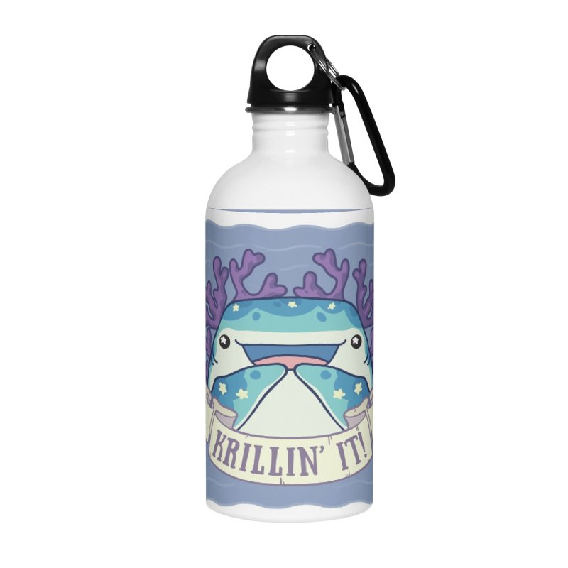 Krillin' It! (Whale Shark) Accessories Water Bottle by Byte Size Treasure's Shop