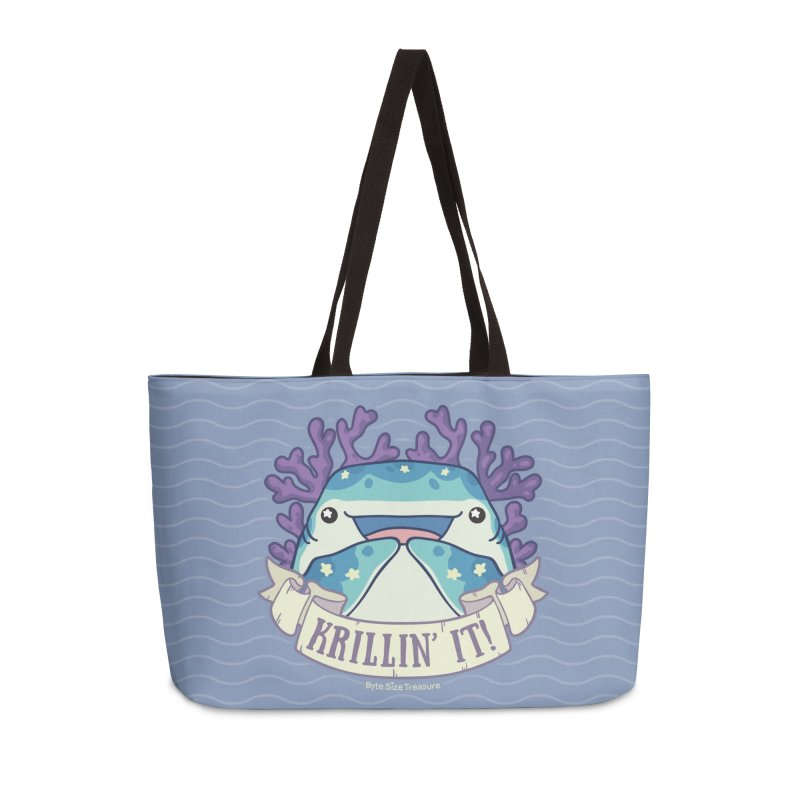 Krillin' It! (Whale Shark) in Weekender Bag by Byte Size Treasure's Shop