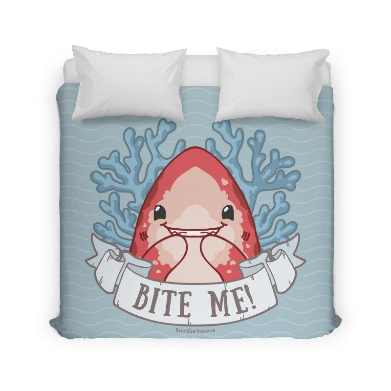 Bite Me! (Oceanic Whitetip Shark) Home Duvet by Byte Size Treasure's Shop