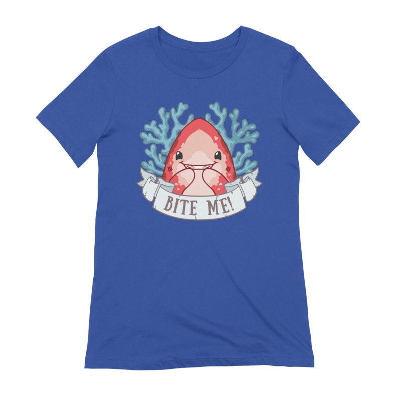 Bite Me! (Oceanic Whitetip Shark) Women's Extra Soft T-Shirt by Byte Size Treasure's Shop