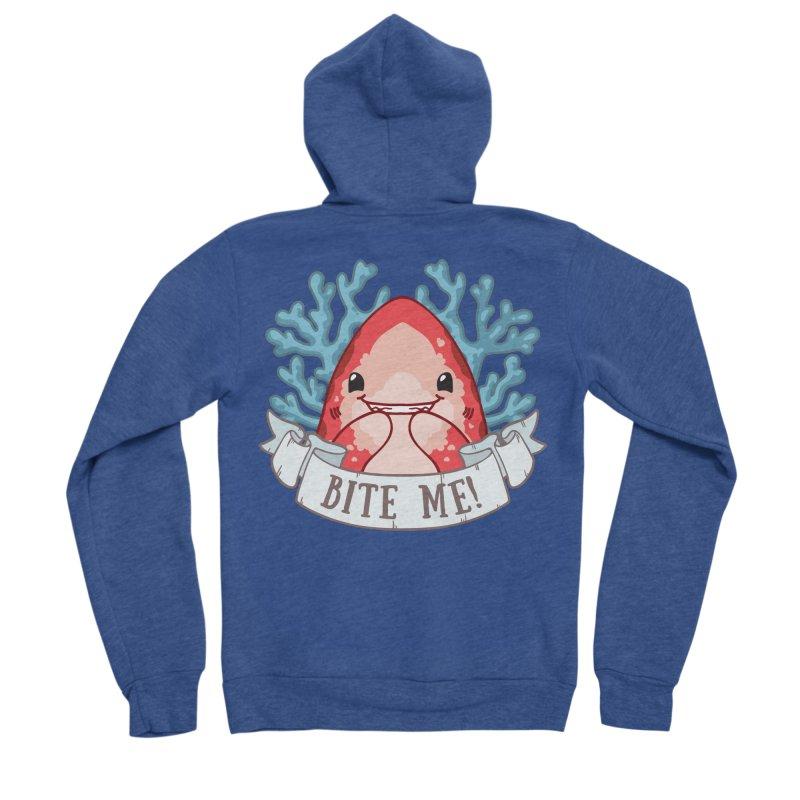 Bite Me! (Oceanic Whitetip Shark) Women's Sponge Fleece Zip-Up Hoody by Byte Size Treasure's Shop