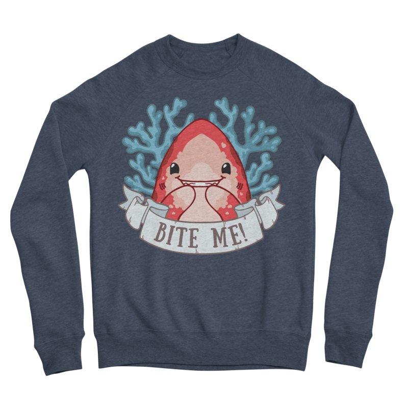 Bite Me! (Oceanic Whitetip Shark) Women's Sponge Fleece Sweatshirt by Byte Size Treasure's Shop
