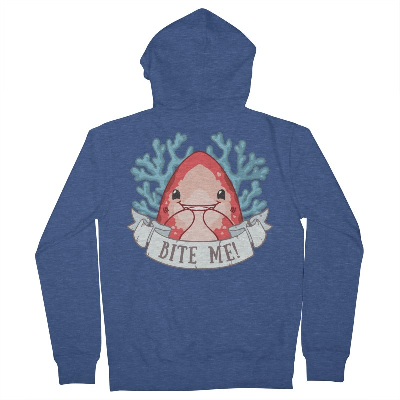 Bite Me! (Oceanic Whitetip Shark) Women's French Terry Zip-Up Hoody by Byte Size Treasure's Shop