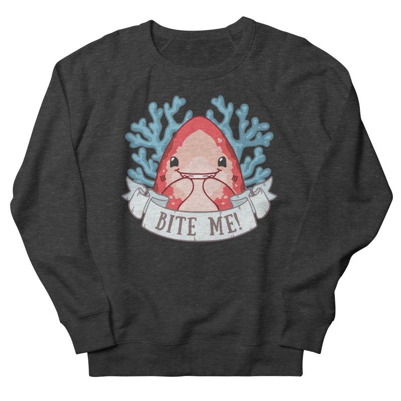 Bite Me! (Oceanic Whitetip Shark) Women's French Terry Sweatshirt by Byte Size Treasure's Shop