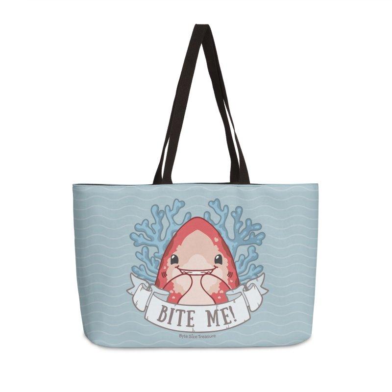 Bite Me! (Oceanic Whitetip Shark) in Weekender Bag by Byte Size Treasure's Shop