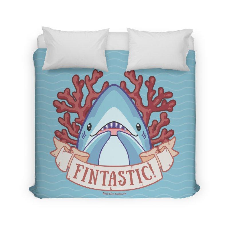 Fintastic! (Thresher Shark) Home Duvet by Byte Size Treasure's Shop