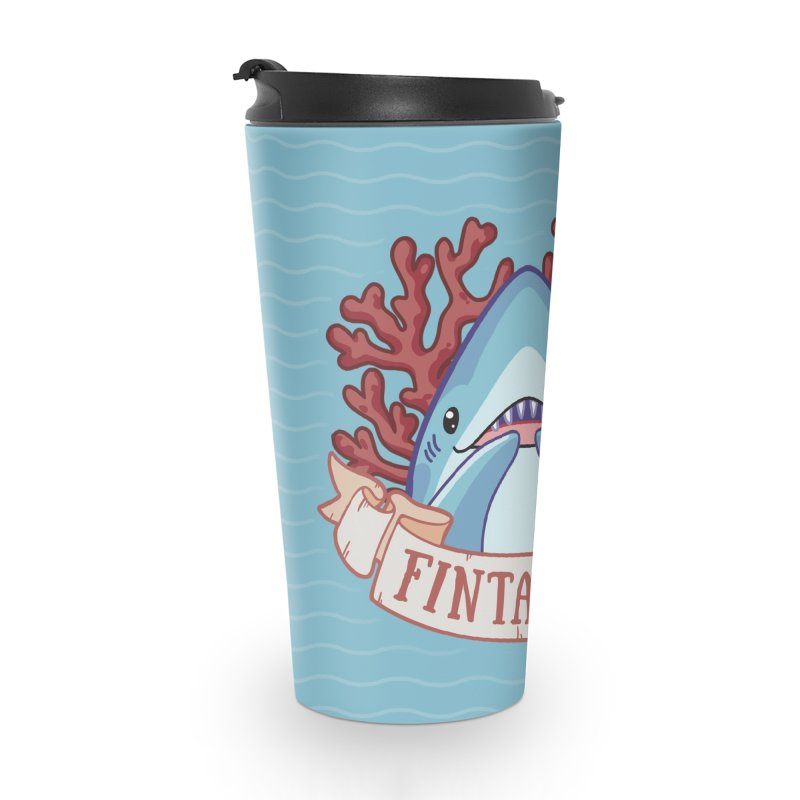 Fintastic! (Thresher Shark) in Travel Mug by Byte Size Treasure's Shop