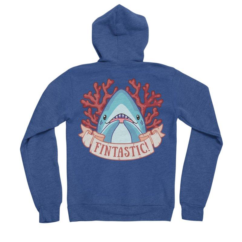 Fintastic! (Thresher Shark) Women's Sponge Fleece Zip-Up Hoody by Byte Size Treasure's Shop
