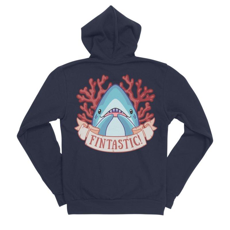 Fintastic! (Thresher Shark) Men's Sponge Fleece Zip-Up Hoody by Byte Size Treasure's Shop