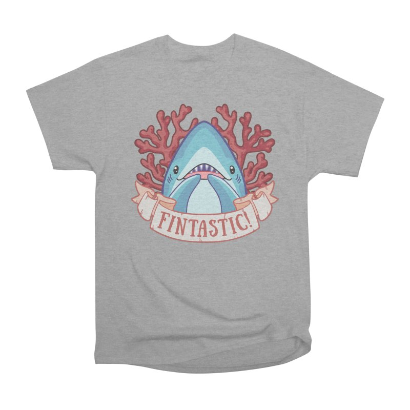 Fintastic! (Thresher Shark) Women's Heavyweight Unisex T-Shirt by Byte Size Treasure's Shop