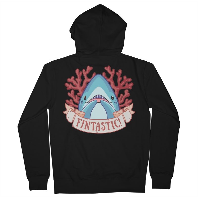 Fintastic! (Thresher Shark) Men's French Terry Zip-Up Hoody by Byte Size Treasure's Shop