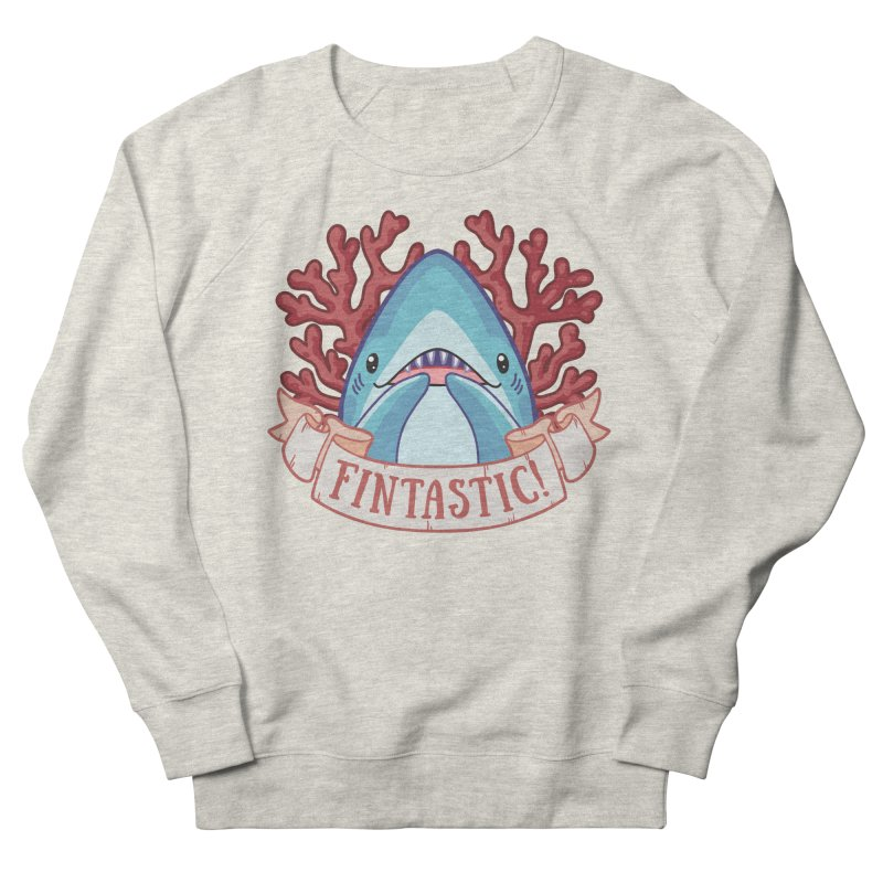 Fintastic! (Thresher Shark) Women's French Terry Sweatshirt by Byte Size Treasure's Shop