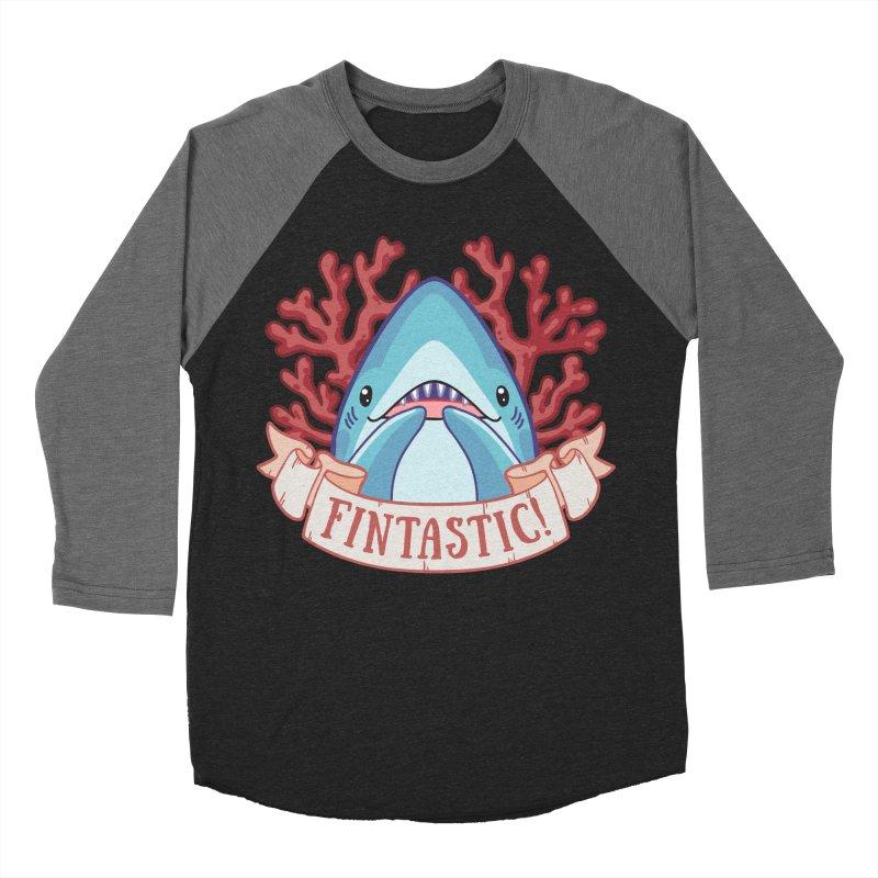 Fintastic! (Thresher Shark) Women's Baseball Triblend Longsleeve T-Shirt by Byte Size Treasure's Shop