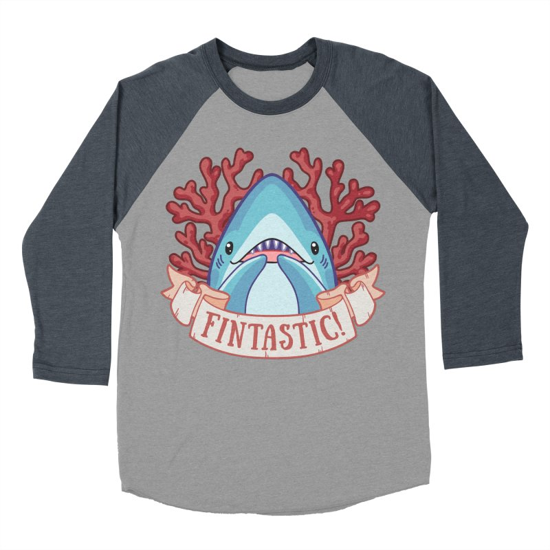 Fintastic! (Thresher Shark) Men's Baseball Triblend Longsleeve T-Shirt by Byte Size Treasure's Shop