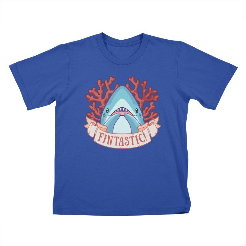 Fintastic! (Thresher Shark) Kids T-Shirt by Byte Size Treasure's Shop