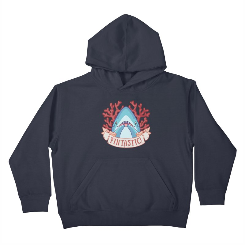Fintastic! (Thresher Shark) Kids Pullover Hoody by Byte Size Treasure's Shop