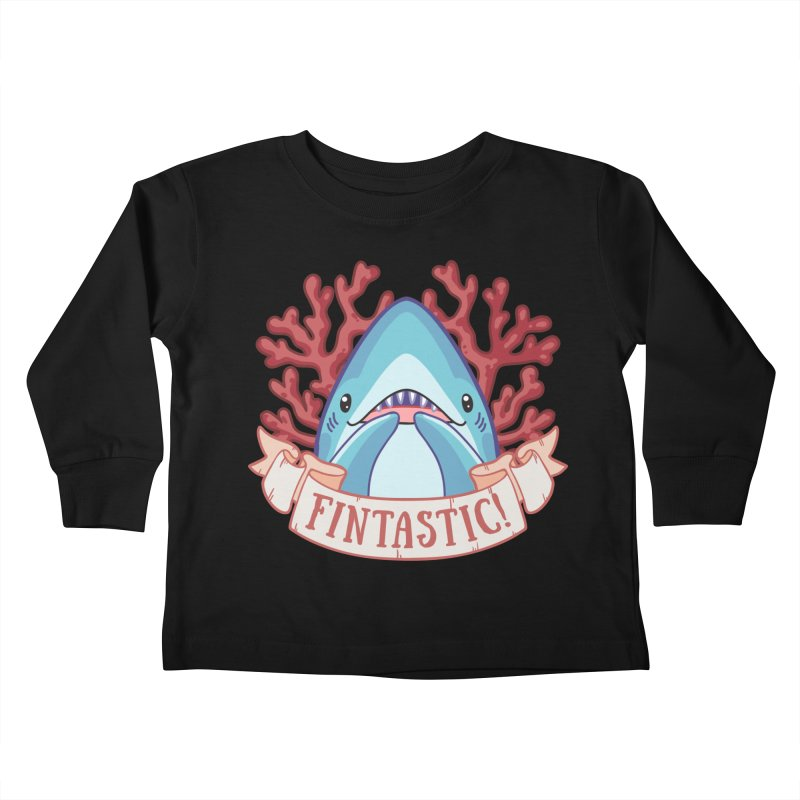 Fintastic! (Thresher Shark) Kids Toddler Longsleeve T-Shirt by Byte Size Treasure's Shop