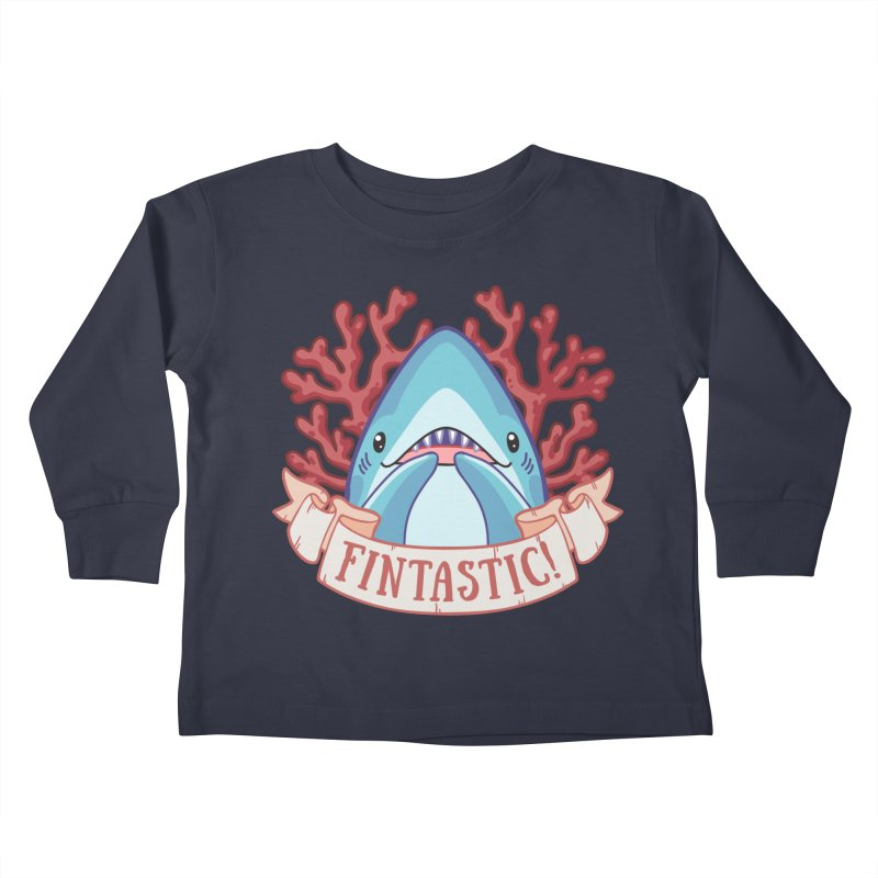 Fintastic! (Thresher Shark) in Kids Toddler Longsleeve T-Shirt Midnight by Byte Size Treasure's Shop