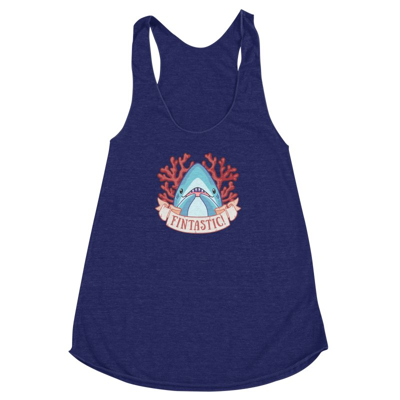 Fintastic! (Thresher Shark) Women's Racerback Triblend Tank by Byte Size Treasure's Shop