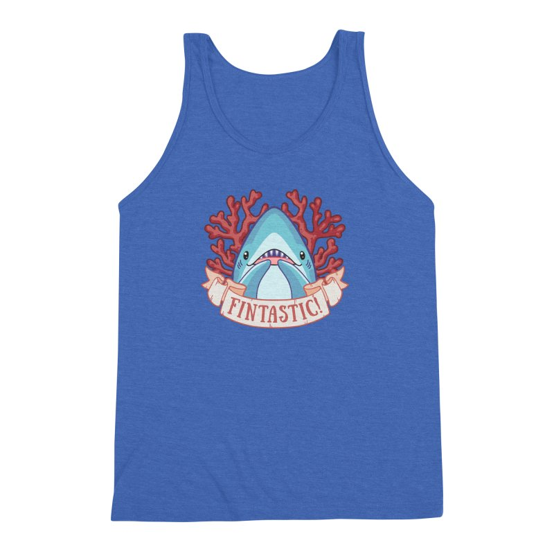 Fintastic! (Thresher Shark) Men's Triblend Tank by Byte Size Treasure's Shop