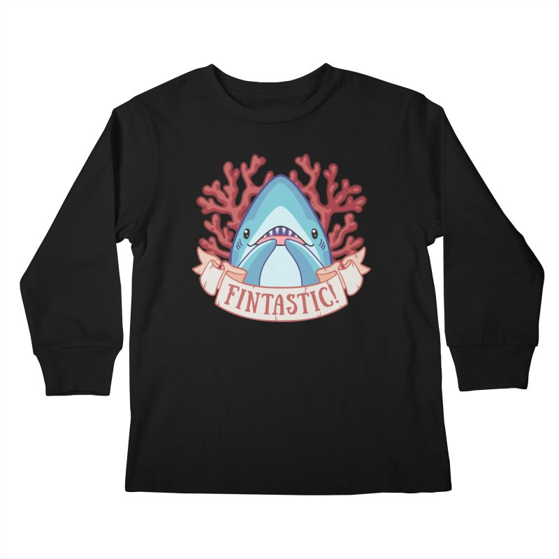 Fintastic! (Thresher Shark) Kids Longsleeve T-Shirt by Byte Size Treasure's Shop