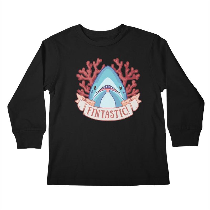 Fintastic! (Thresher Shark) Kids Longsleeve T-Shirt by Byte Size Treasure's Shop