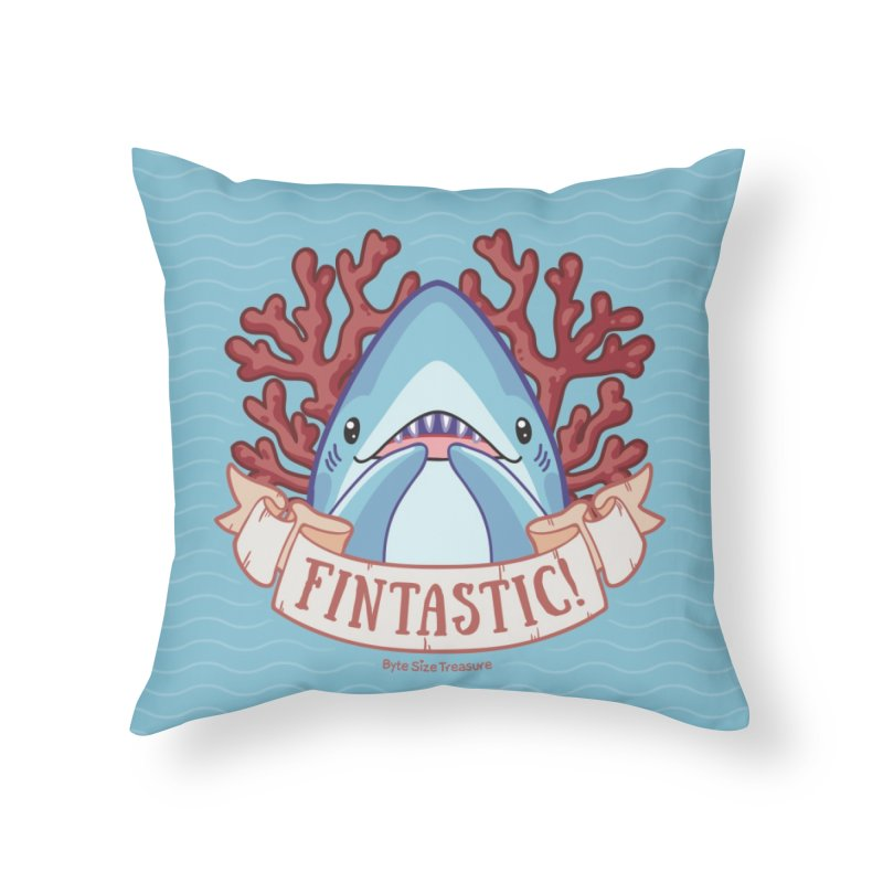 Fintastic! (Thresher Shark) Home Throw Pillow by Byte Size Treasure's Shop