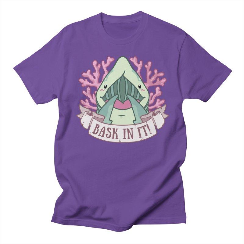 Bask In It! (Basking Shark) Women's Regular Unisex T-Shirt by Byte Size Treasure's Shop