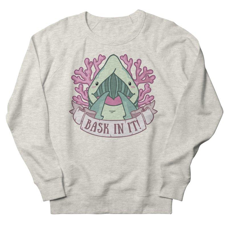 Bask In It! (Basking Shark) Women's French Terry Sweatshirt by Byte Size Treasure's Shop