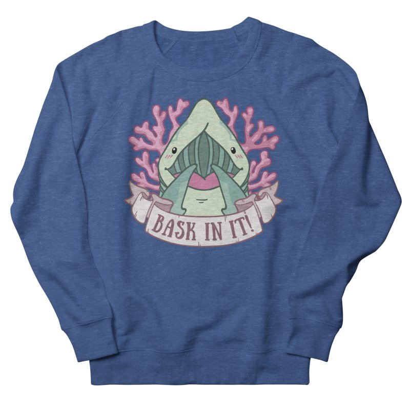 Bask In It! (Basking Shark) Men's French Terry Sweatshirt by Byte Size Treasure's Shop
