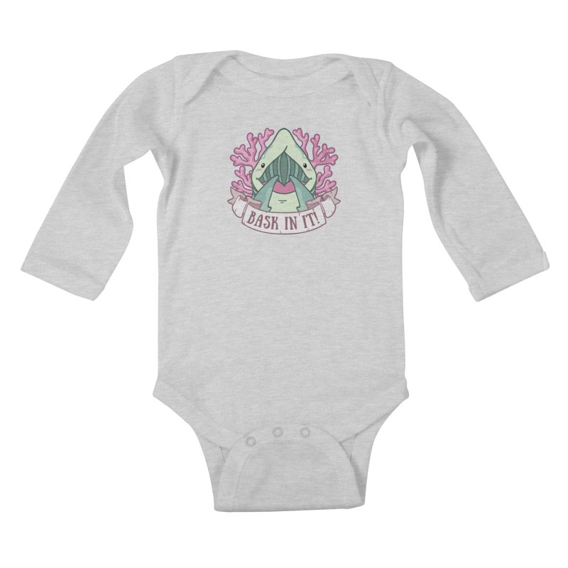 Bask In It! (Basking Shark) Kids Baby Longsleeve Bodysuit by Byte Size Treasure's Shop